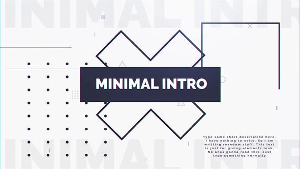 Videohive Minimal Intro 23013906