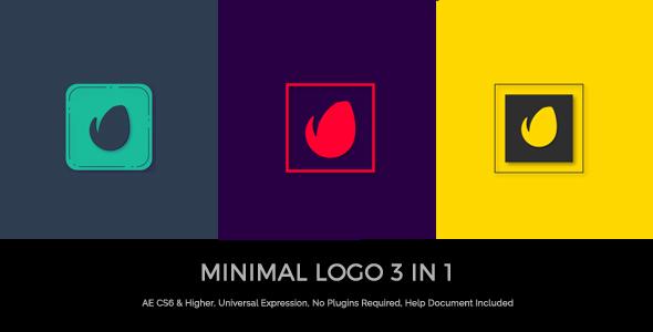 Videohive Minimal Logo 3 In 1 19921868
