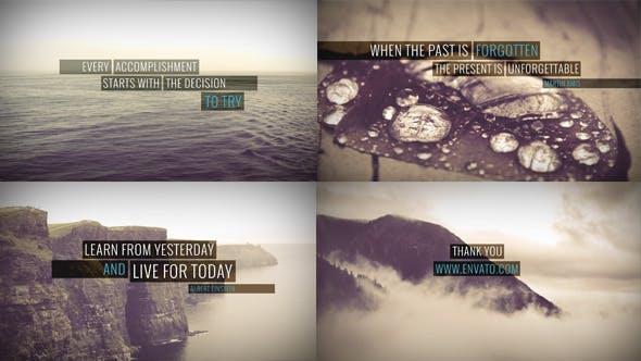 Videohive Minimal Quotes - Image Video 6490639