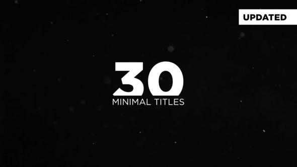 Videohive Minimal Titles 19182094