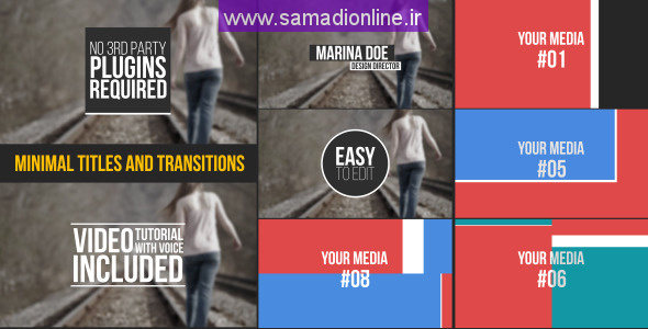 Videohive Minimal Titles and Transitions 10668796