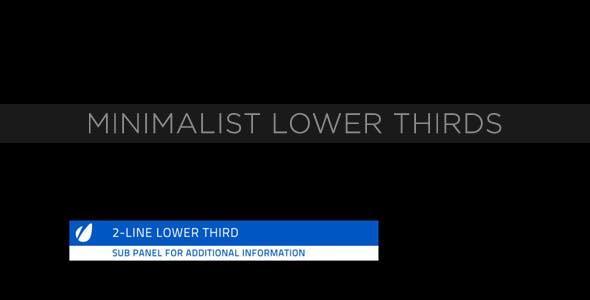 Videohive Minimalist Lower Thirds 231564