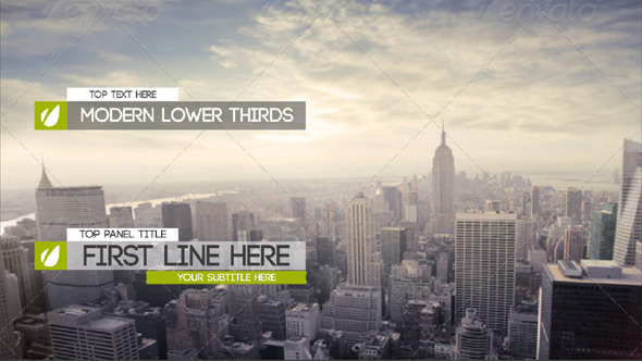Videohive Modern And Clean Lower Thirds 8419460