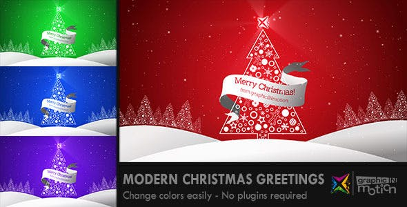 Videohive Modern Christmas Greetings 6103859
