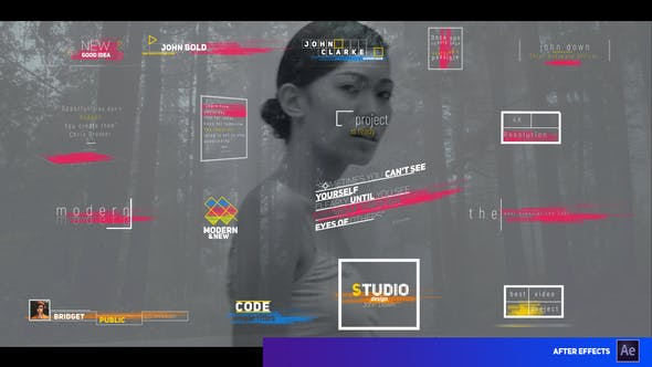 Videohive Modern Colored Stripes Titles 28773528