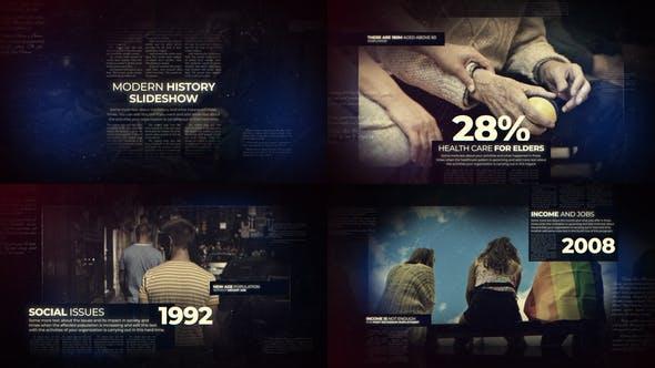 Videohive Modern History Slideshow 22563115