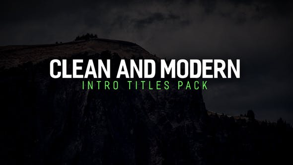 Videohive Modern Intro Titles Pack 17230467