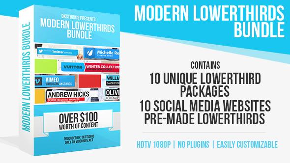 Videohive Modern Lower Thirds Bundle (10 in 1) 5675117