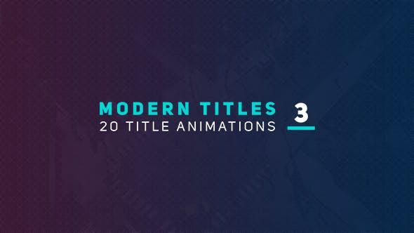 Videohive Modern Titles 3 18272605