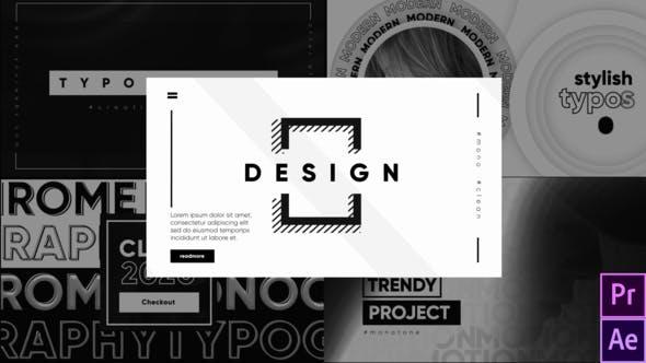 Videohive Monochrome Typography 27009326