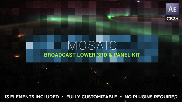Videohive Mosaic Lower Third Title Kit 10585893