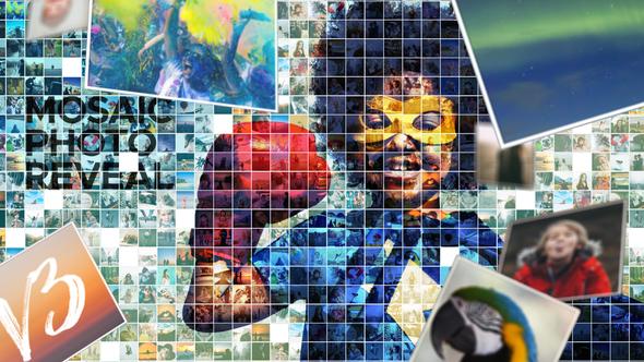 Videohive Mosaic Photo Reveal 7266788