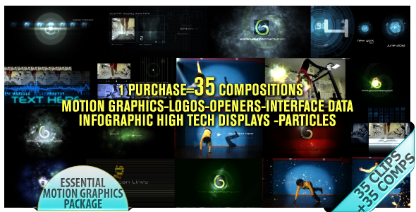 Videohive Motion Graphics Displays And Particles Bundle Package 2478023