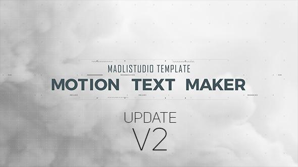Videohive Motion Text Maker V2 18119422