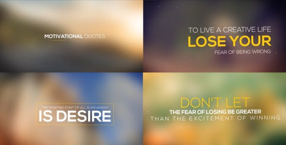 Videohive Motivational Titles 12786466