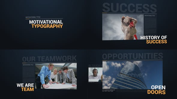 Videohive Motivational Typography Opener 12391011