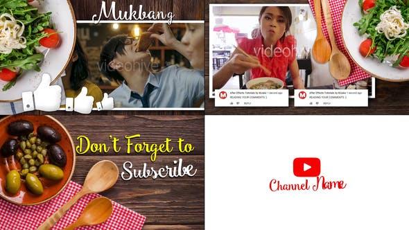 Videohive Mukbang Food Youtube Intro 23097953
