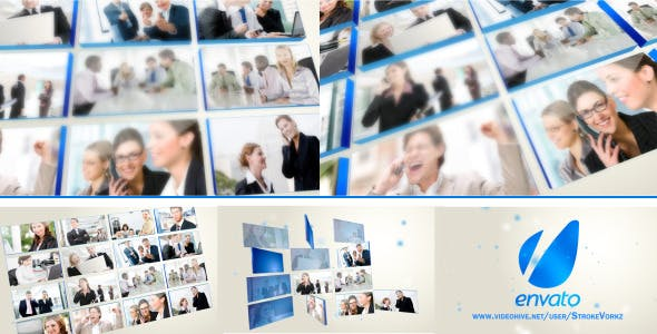 Videohive Multi Video-3D Screen Logo Opener 2911555