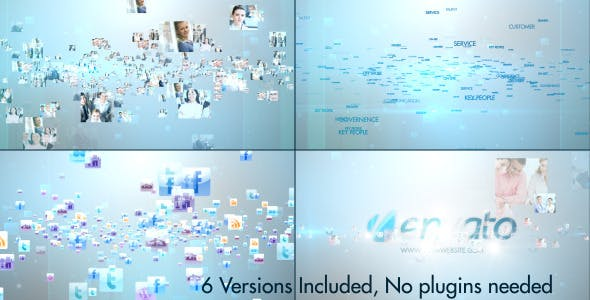 Videohive Multi Video Text Icons Stylish Logo V2 4355978