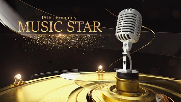 Videohive Music Star Opener 23642803