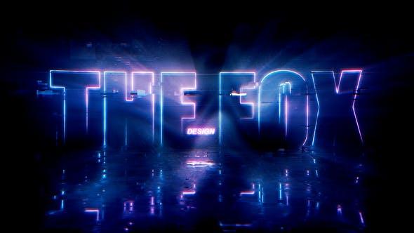 Videohive Neon Glitch Logo Reveal 26820340