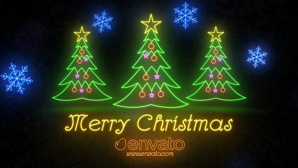 Videohive Neon Light Christmas 22892071