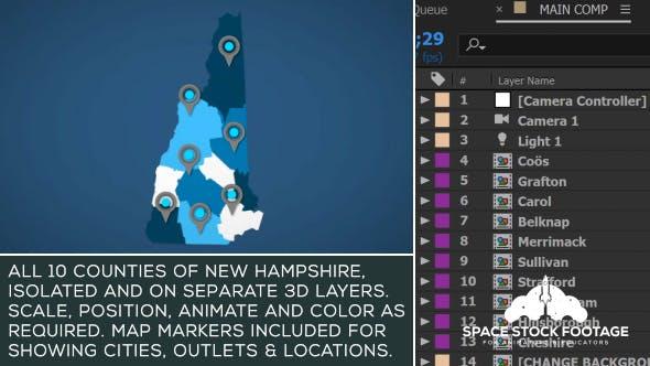 Videohive New Hampshire Map Kit 20822489