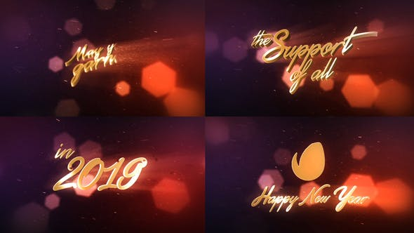 Videohive New Year Wishes - 3D Logo Text 18940904