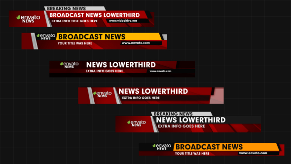Videohive News Lower Thirds 18559721