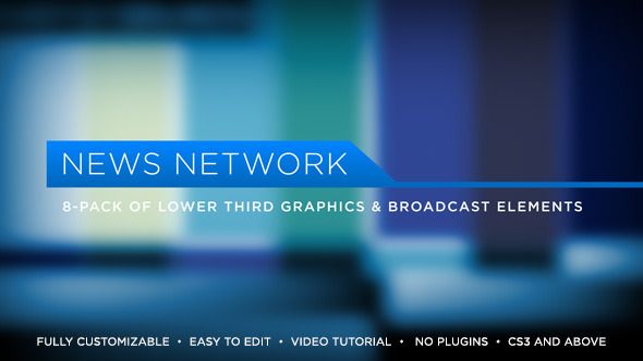 Videohive News Network Lower Thirds 5171471