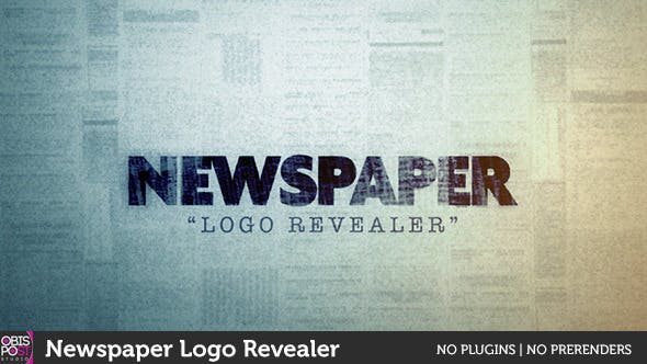 Videohive Newspaper Logo Reveal 10159248