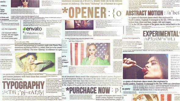 Videohive Newspaper Titles Urban Typography Slideshow