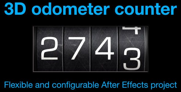 Videohive Odometer number counter 8071608