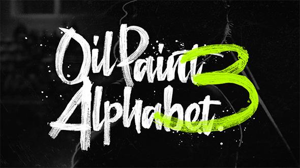 Videohive Oil Paint Alphabet 3 14348832