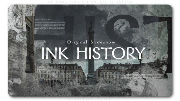Videohive Original Inks Historical Slideshow 23013213