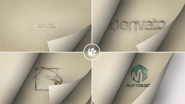 Videohive Page Flip Sketch Logo 20144466