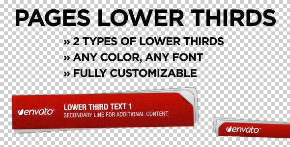 Videohive Pages Lower Thirds 755794