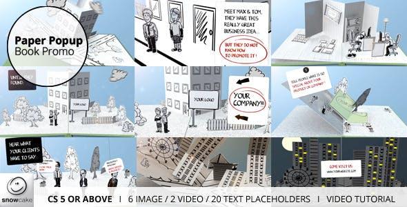 Videohive Paper Popup Book Promo 4732597