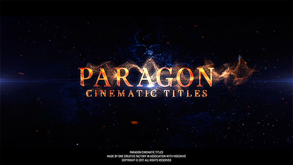 Videohive Paragon Cinematic Titles 19421255