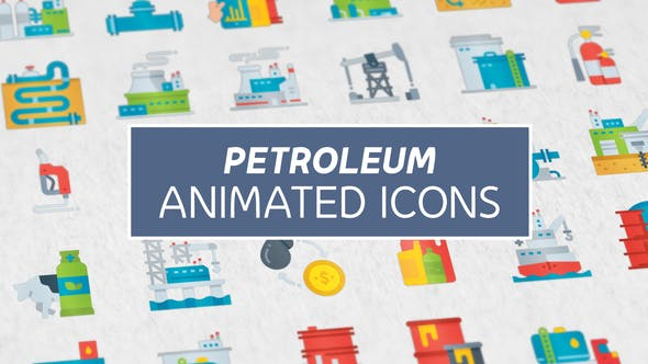 Videohive Petroleum Modern Flat Animated Icons 26850921