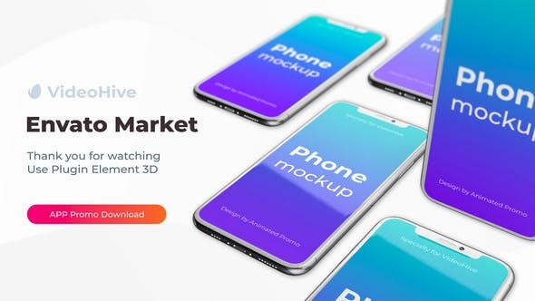 Videohive Phone App 11 Pro S20 Ultra App Promo Mockup 26949386