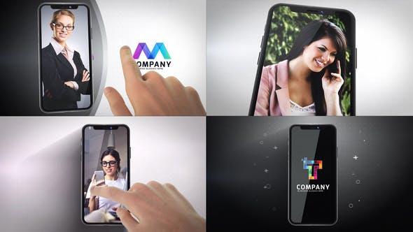 Videohive Phone X Logo Reveals 22747667