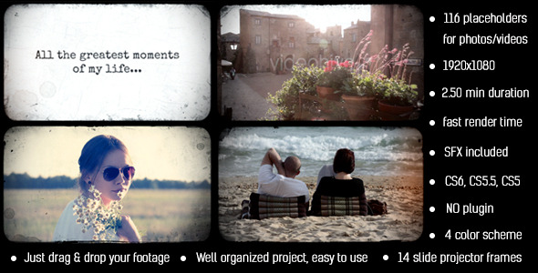 Videohive Photo Album Slide Projector