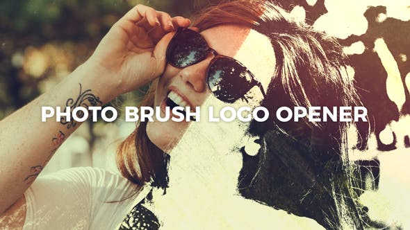 Videohive Photo Brush Logo Opener 21448702