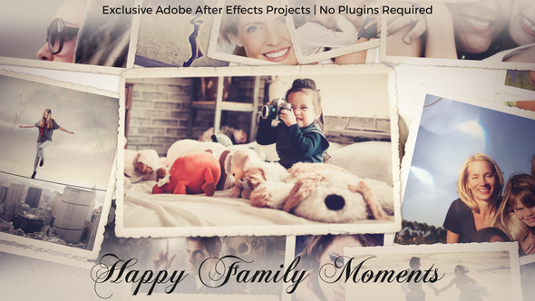 Videohive Photo Gallery - Happy Family Moments 22734305
