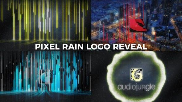 Videohive Pixel Rain Logo Reveal 20913151