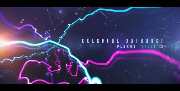 Videohive Plexus Titles 3 (Colorful Outburst) 19581783