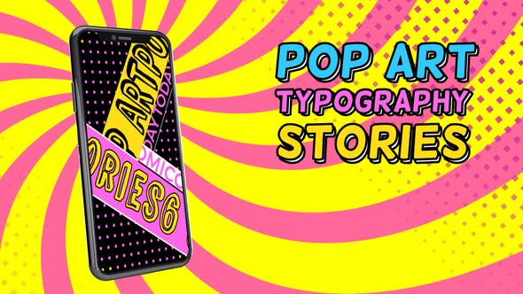 Videohive Pop Art Typography Sale Stories 26775527