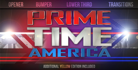 Videohive Prime Time Show Broadcast Pack 1631087