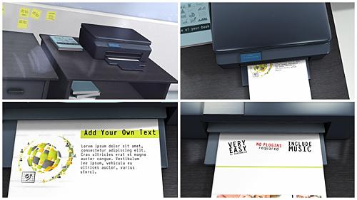 Videohive Printer Promo